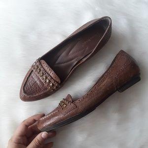 Bare Traps | Studded Leather Flat Slip On Loafer